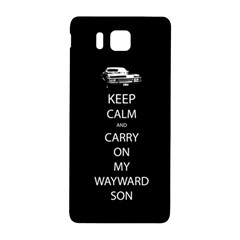 Carry On Centered Samsung Galaxy Alpha Hardshell Back Case by TheFandomWard