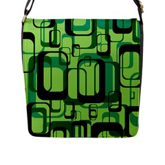 Retro Pattern 1971 Green Flap Messenger Bag (l)  by ImpressiveMoments