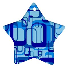 Retro Pattern 1971 Blue Star Ornament (two Sides)  by ImpressiveMoments