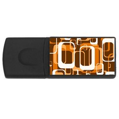 Retro Pattern 1971 Orange Usb Flash Drive Rectangular (4 Gb)  by ImpressiveMoments