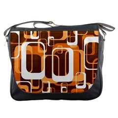 Retro Pattern 1971 Orange Messenger Bags by ImpressiveMoments
