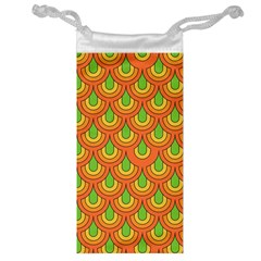 70s Green Orange Pattern Jewelry Bags by ImpressiveMoments