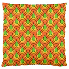 70s Green Orange Pattern Large Cushion Cases (two Sides)