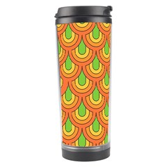 70s Green Orange Pattern Travel Tumblers by ImpressiveMoments