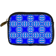 Retro Blue Pattern Digital Camera Cases by ImpressiveMoments