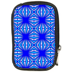 Retro Blue Pattern Compact Camera Cases by ImpressiveMoments