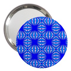 Retro Blue Pattern 3  Handbag Mirrors by ImpressiveMoments