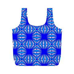 Retro Blue Pattern Full Print Recycle Bags (m)  by ImpressiveMoments