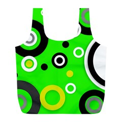 Florescent Green Yellow Abstract  Full Print Recycle Bags (l)  by OCDesignss