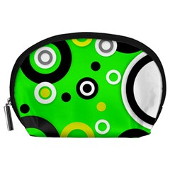 Florescent Green Yellow Abstract  Accessory Pouches (large)  by OCDesignss