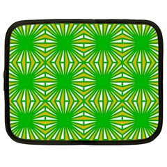 Retro Green Pattern Netbook Case (large)	 by ImpressiveMoments