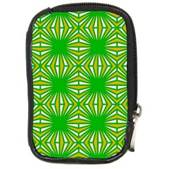 Retro Green Pattern Compact Camera Cases by ImpressiveMoments