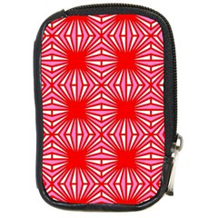 Retro Red Pattern Compact Camera Cases by ImpressiveMoments