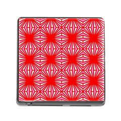 Retro Red Pattern Memory Card Reader (square) by ImpressiveMoments