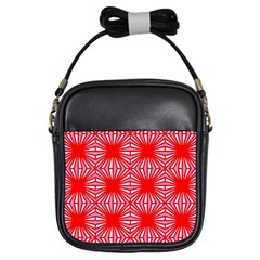 Retro Red Pattern Girls Sling Bags by ImpressiveMoments