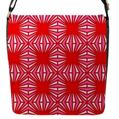 Retro Red Pattern Flap Messenger Bag (s) by ImpressiveMoments