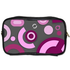 Grey Plum Abstract Pattern  Toiletries Bags 2 Side