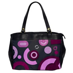 Grey Plum Abstract Pattern  Office Handbags