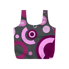 Grey Plum Abstract Pattern  Full Print Recycle Bags (s)