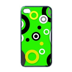 Florescent Green Yellow Abstract  Apple Iphone 4 Case (black) by OCDesignss