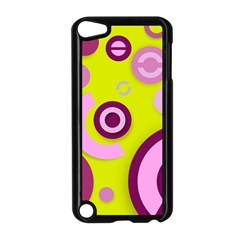 Florescent Yellow Pink Abstract  Apple Ipod Touch 5 Case (black) by OCDesignss