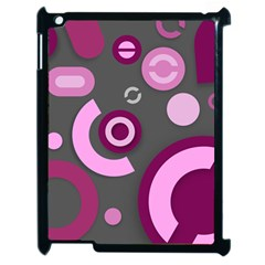 Pink Purple Abstract Cases Apple Ipad 2 Case (black) by OCDesignss