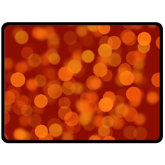 Modern Bokeh 12 Double Sided Fleece Blanket (large)