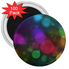 Modern Bokeh 15 3  Magnets (100 Pack)