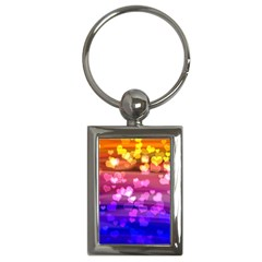 Lovely Hearts, Bokeh Key Chains (rectangle)