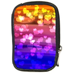 Lovely Hearts, Bokeh Compact Camera Cases by ImpressiveMoments