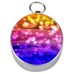 Lovely Hearts, Bokeh Silver Compasses by ImpressiveMoments