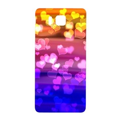 Lovely Hearts, Bokeh Samsung Galaxy Alpha Hardshell Back Case