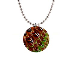 Special Fractal 31 Green,brown Button Necklaces by ImpressiveMoments