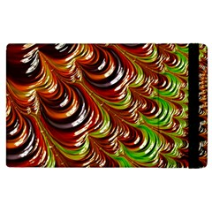 Special Fractal 31 Green,brown Apple Ipad 2 Flip Case