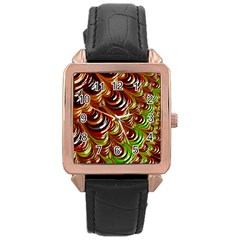 Special Fractal 31 Green,brown Rose Gold Watches by ImpressiveMoments