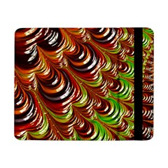 Special Fractal 31 Green,brown Samsung Galaxy Tab Pro 8 4  Flip Case by ImpressiveMoments