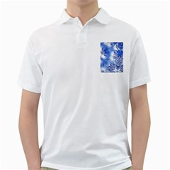 Special Fractal 17 Blue Golf Shirts by ImpressiveMoments