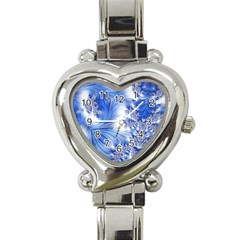 Special Fractal 17 Blue Heart Italian Charm Watch by ImpressiveMoments