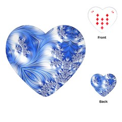 Special Fractal 17 Blue Playing Cards (heart)