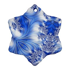 Special Fractal 17 Blue Snowflake Ornament (2 Side) by ImpressiveMoments