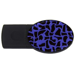 Purple Holes Usb Flash Drive Oval (2 Gb) by LalyLauraFLM
