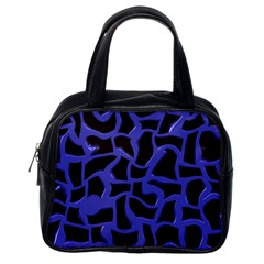 Purple Holes Classic Handbag (one Side) by LalyLauraFLM