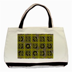 Plastic Shapes Pattern Basic Tote Bag (two Sides) by LalyLauraFLM