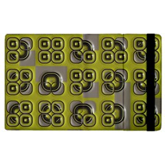 Plastic Shapes Pattern Apple Ipad 2 Flip Case by LalyLauraFLM