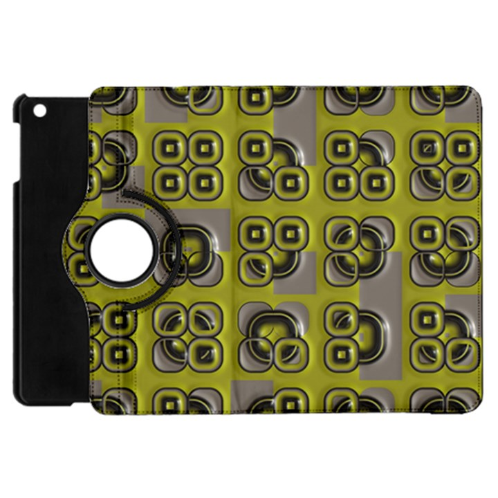 Plastic shapes pattern Apple iPad Mini Flip 360 Case