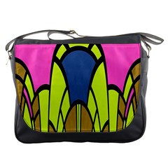 Distorted Symmetrical Shapes Messenger Bag by LalyLauraFLM
