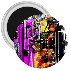 Abstract City View 3  Magnets