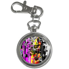 Abstract City View Key Chain Watches