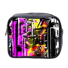 Abstract City View Mini Toiletries Bag 2 Side by digitaldivadesigns