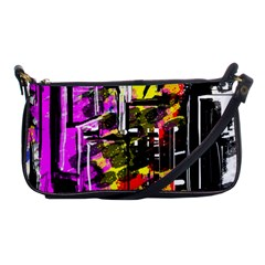 Abstract City View Shoulder Clutch Bags by digitaldivadesigns